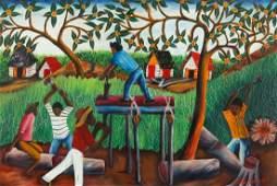 Wilmino Domond (b. 1925) Wood Cutters, 1964