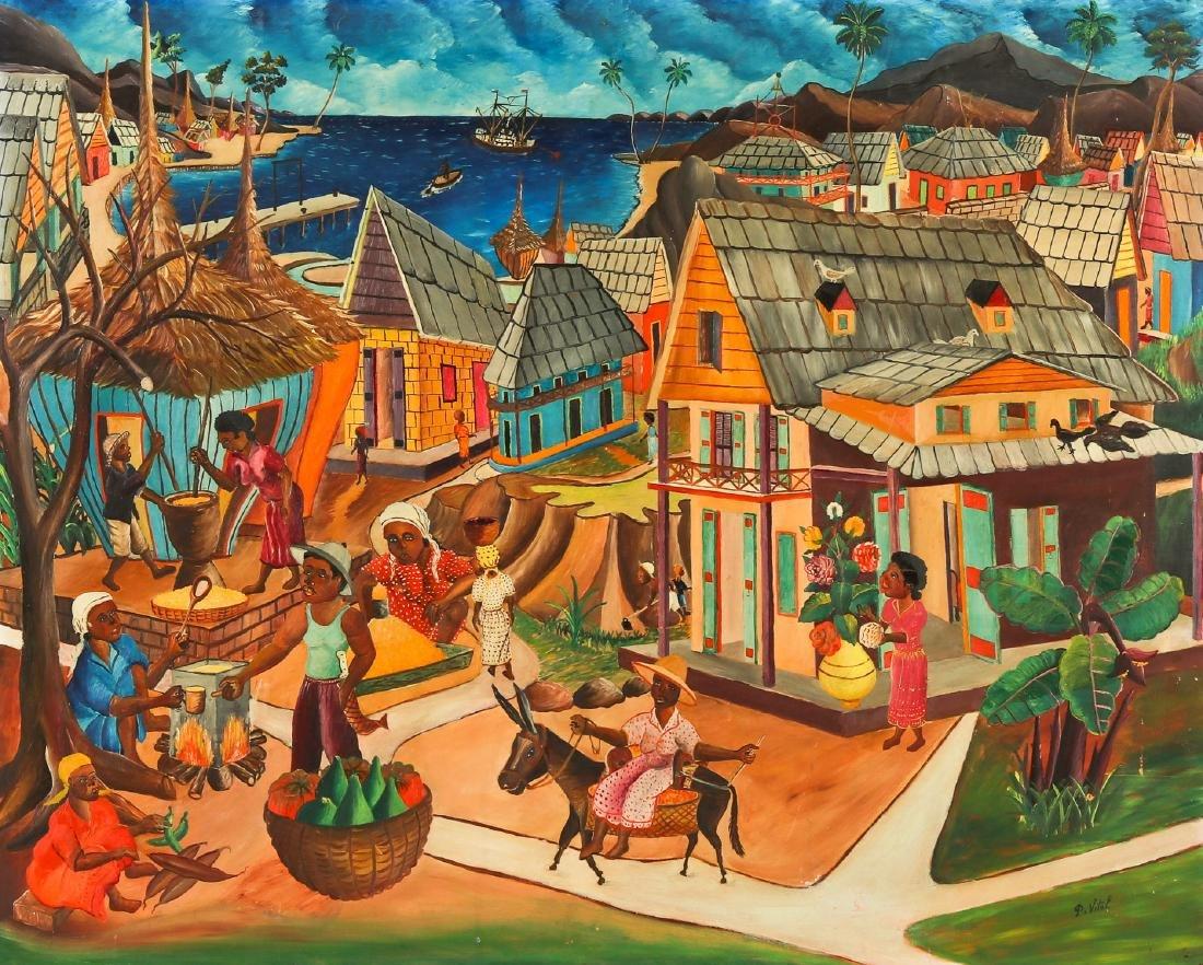 Pauléus Vital (Haitian/Jacmel, 1918-1984) Jacmel Market