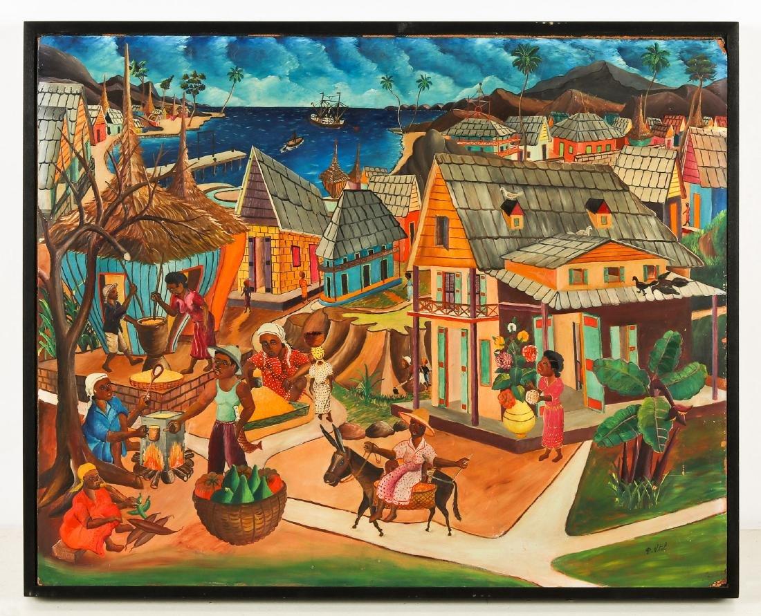 Pauléus Vital (Haitian/Jacmel, 1918-1984) Jacmel Market - 2