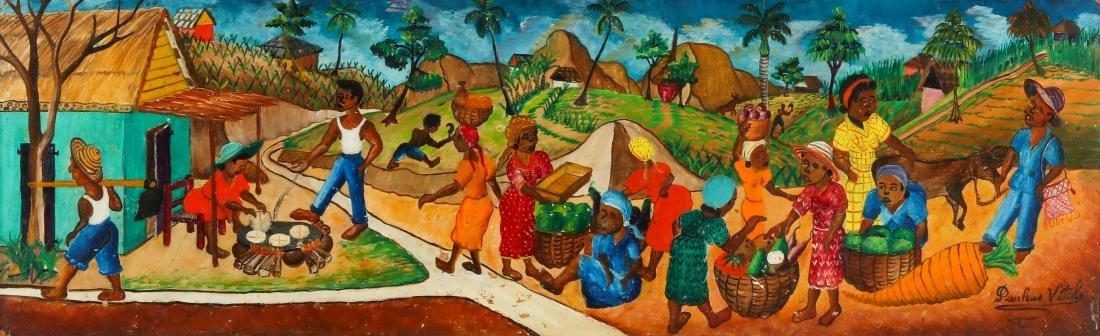 Pauléus Vital (1918-1984) Village Scene