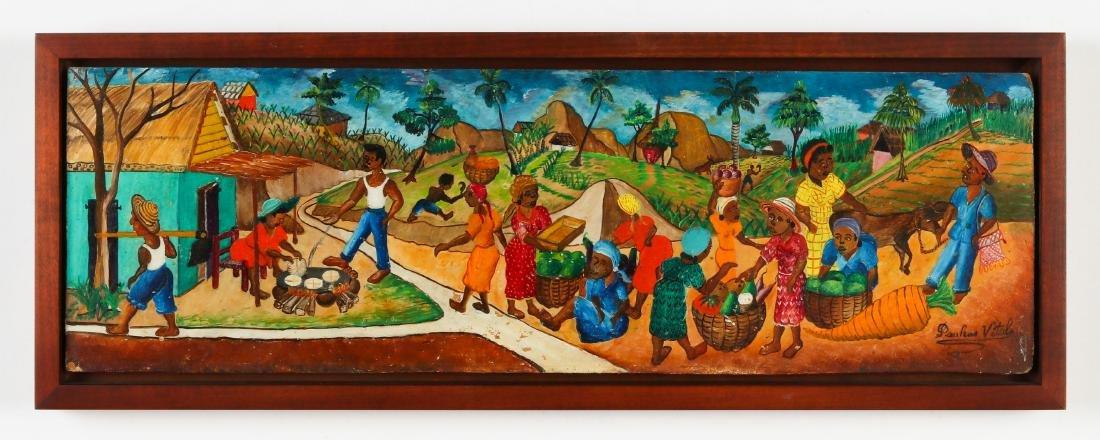 Pauléus Vital (1918-1984) Village Scene - 2