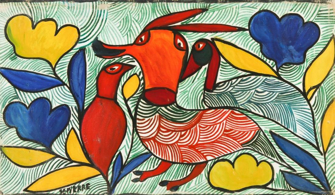 Toussaint St. Pierre (1923-1985) Three Birds