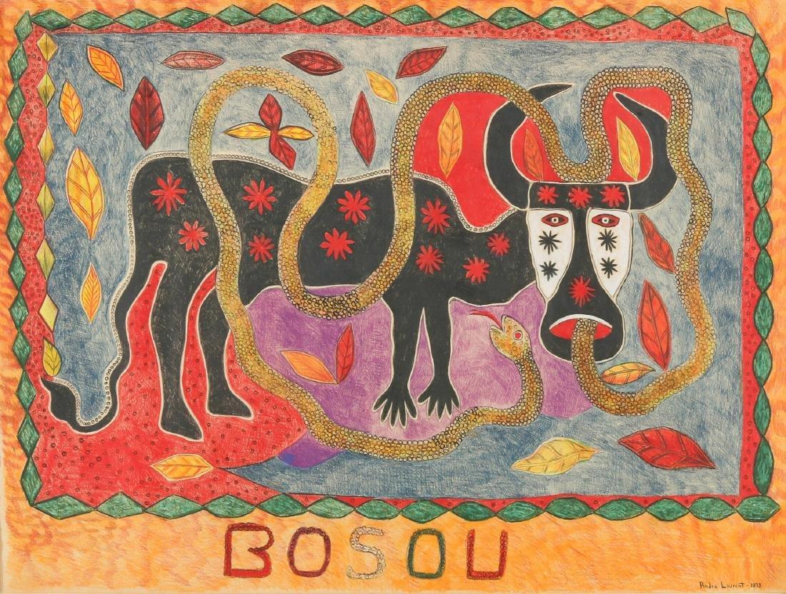 """Andre Laurent (Haitian/Cap-Haïtien, 20th c.) """"Bosou"""""""