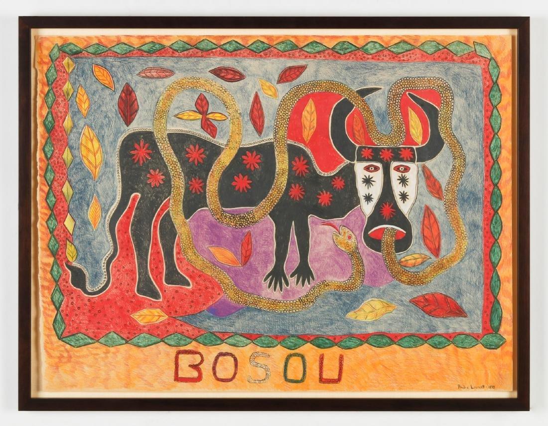"""Andre Laurent (Haitian/Cap-Haïtien, 20th c.) """"Bosou"""" - 2"""
