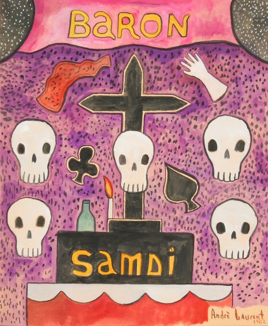 Andre Laurent (Haitian, 20th c.) Baron Samdi