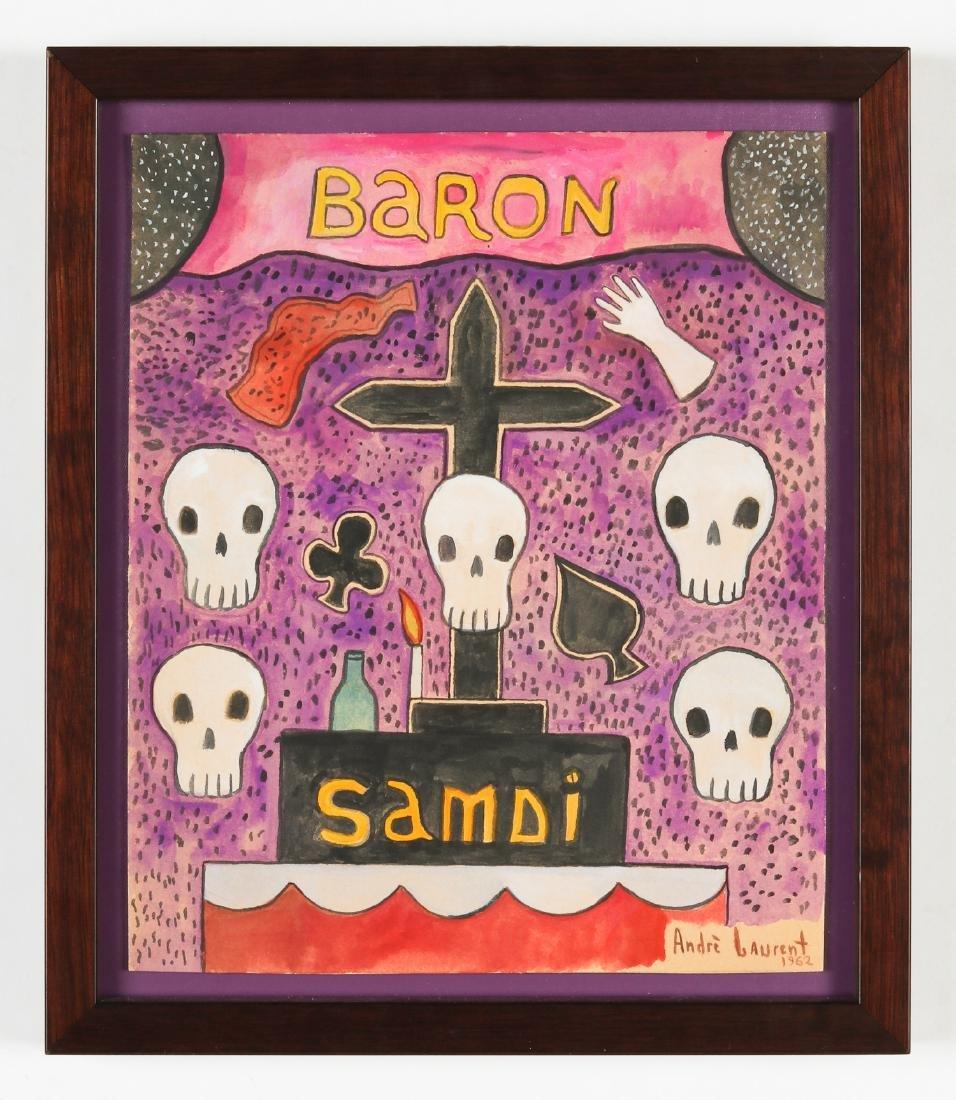 Andre Laurent (Haitian, 20th c.) Baron Samdi - 2