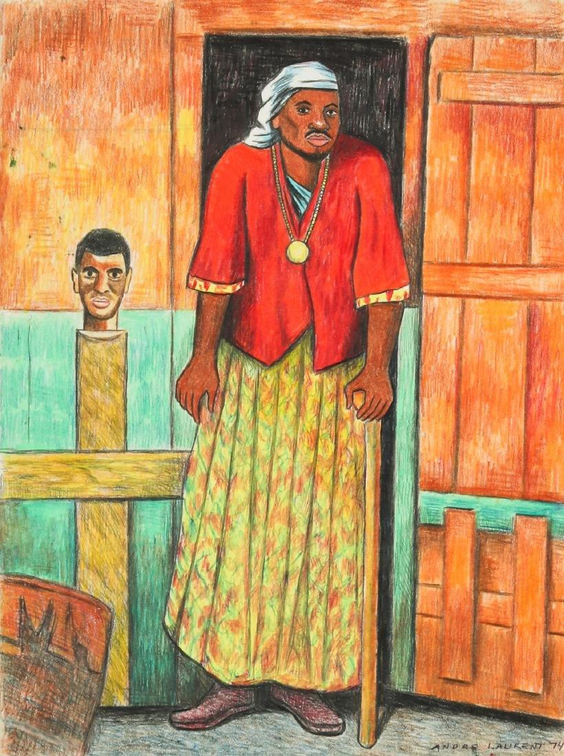 Andre Laurent (Haitian, 20th c.) Portrait of a Man