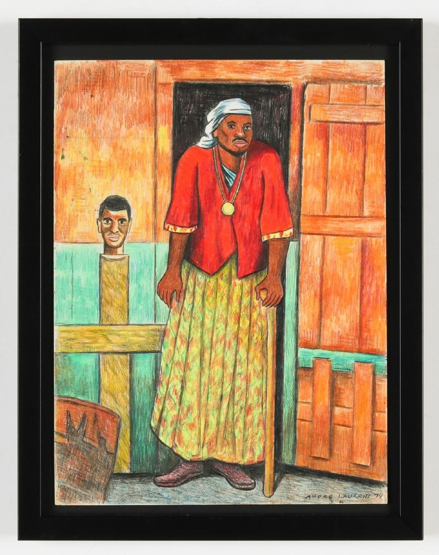 Andre Laurent (Haitian, 20th c.) Portrait of a Man - 2