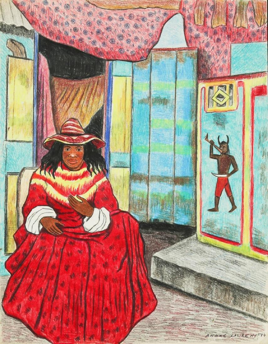 Andre Laurent (Haitian/Cap-Haïtien, 20th c.) Man in Red