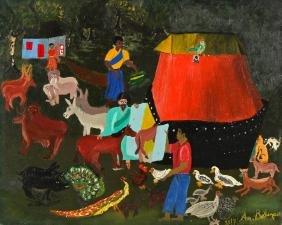 Antony Bélizaire (Haitian, 20th c.) Animals Boarding