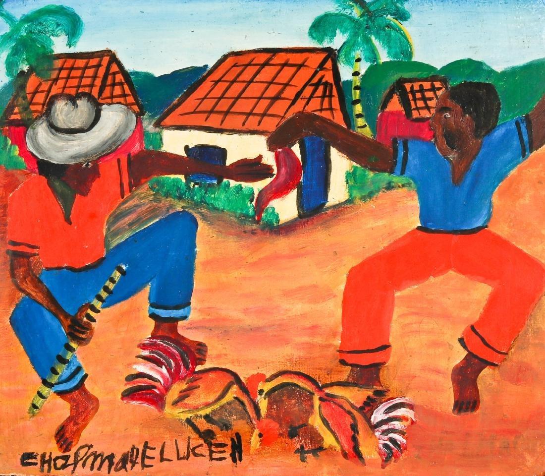 Chapman Lucien (Haitian, 20th c.) Rural Cockfight
