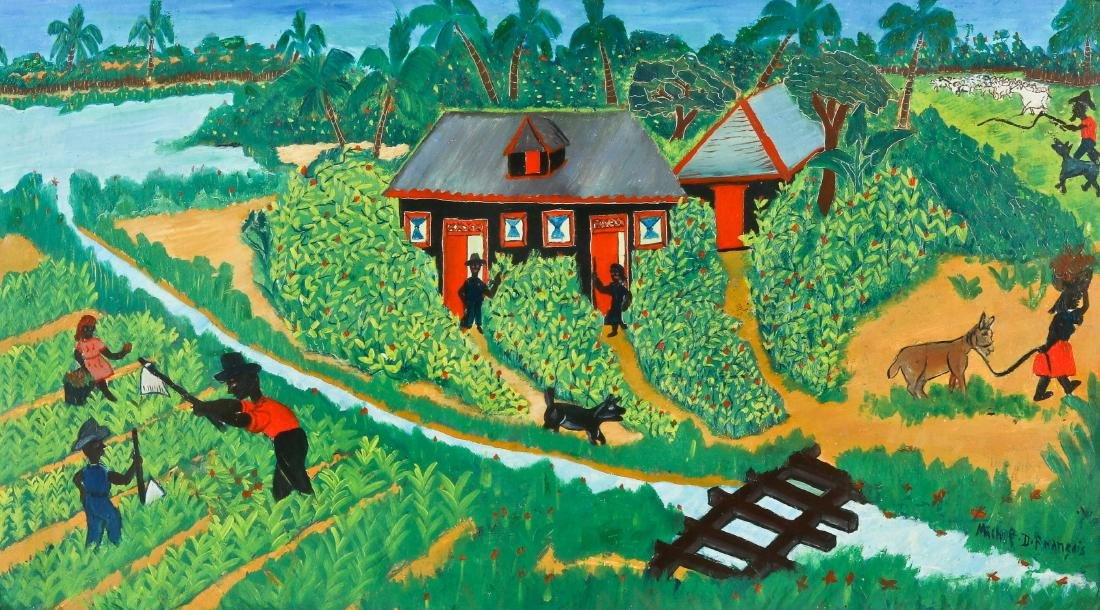 Michel D. Francois (20th c.) Country Scene