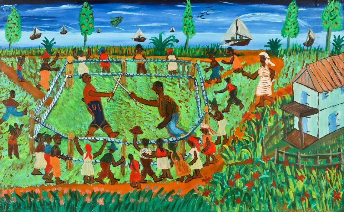 Michel D. Francois (20th c.) Rural Machete Fight