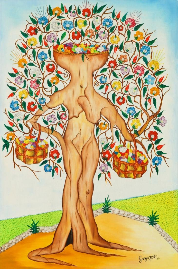 Georges Jean (20th c.) Spirit Tree Festooned in