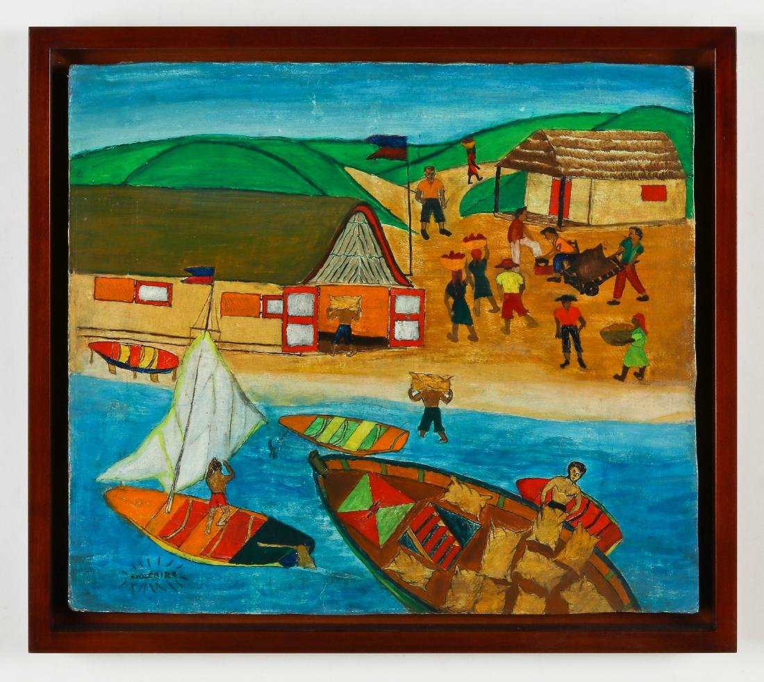 W. Voltaire (Haitian, 20th c.) Fishing Scene - 2