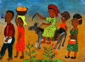 Edith Stephane (Haitian, 20th c.) To Market
