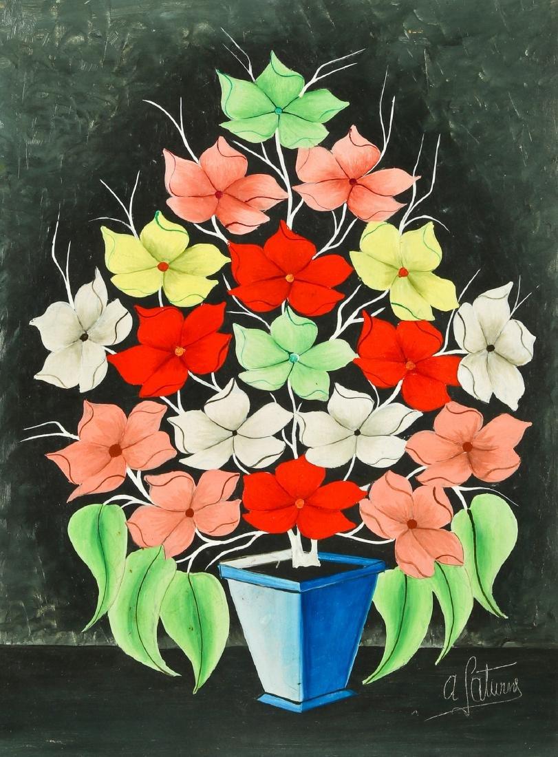 Andre Saturne (Haitian, 1923-1983) Flower Still Life