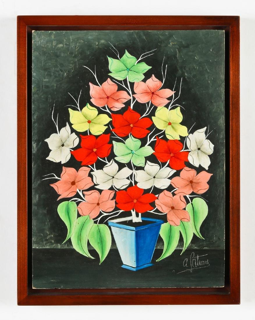 Andre Saturne (Haitian, 1923-1983) Flower Still Life - 2