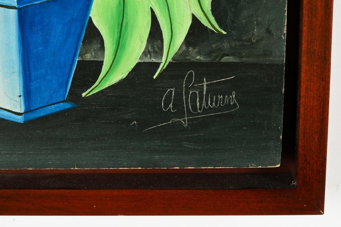 Andre Saturne (Haitian, 1923-1983) Flower Still Life - 3