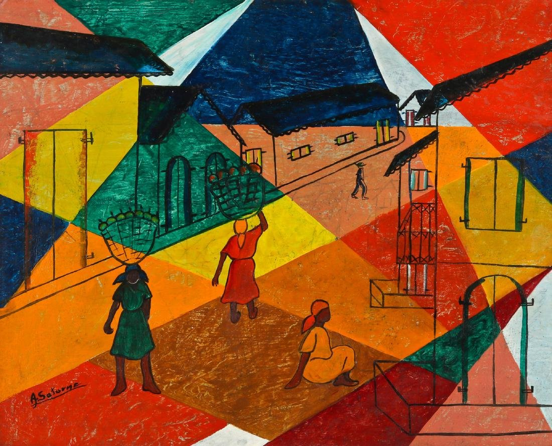 Andre Saturne (1923-1983) Abstract House