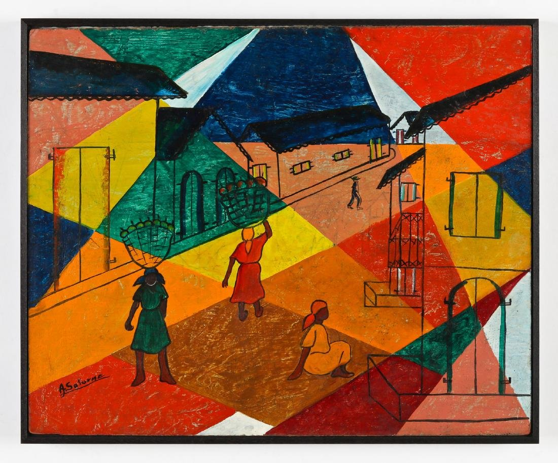 Andre Saturne (1923-1983) Abstract House - 2