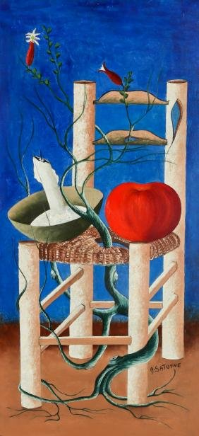 Andre Saturne (1923-1983) Chair with Mystic Apple