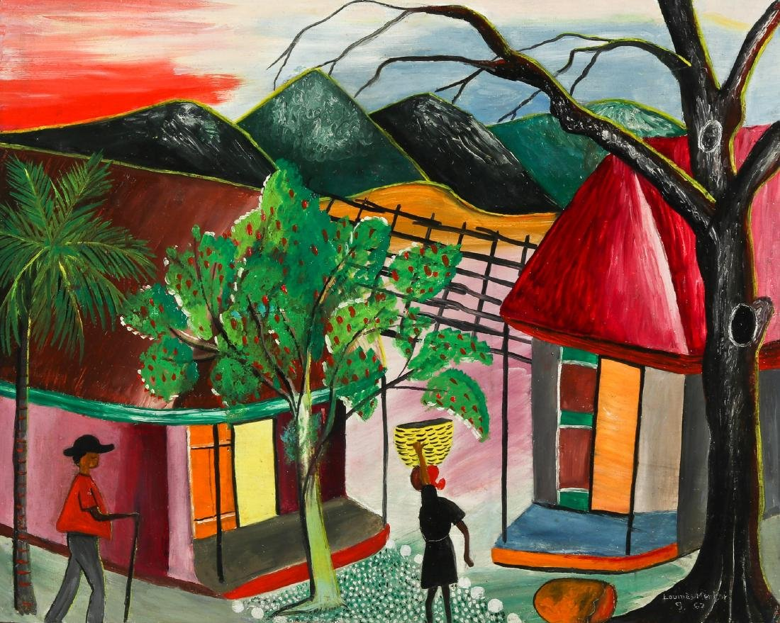 Louines Mentor (Haitian, 20th c.) Sunset, 1969
