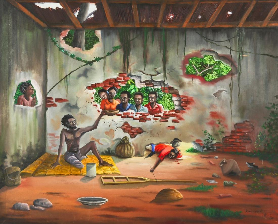 Emmanuel Previl (Haitian, 20th c.) People In Need