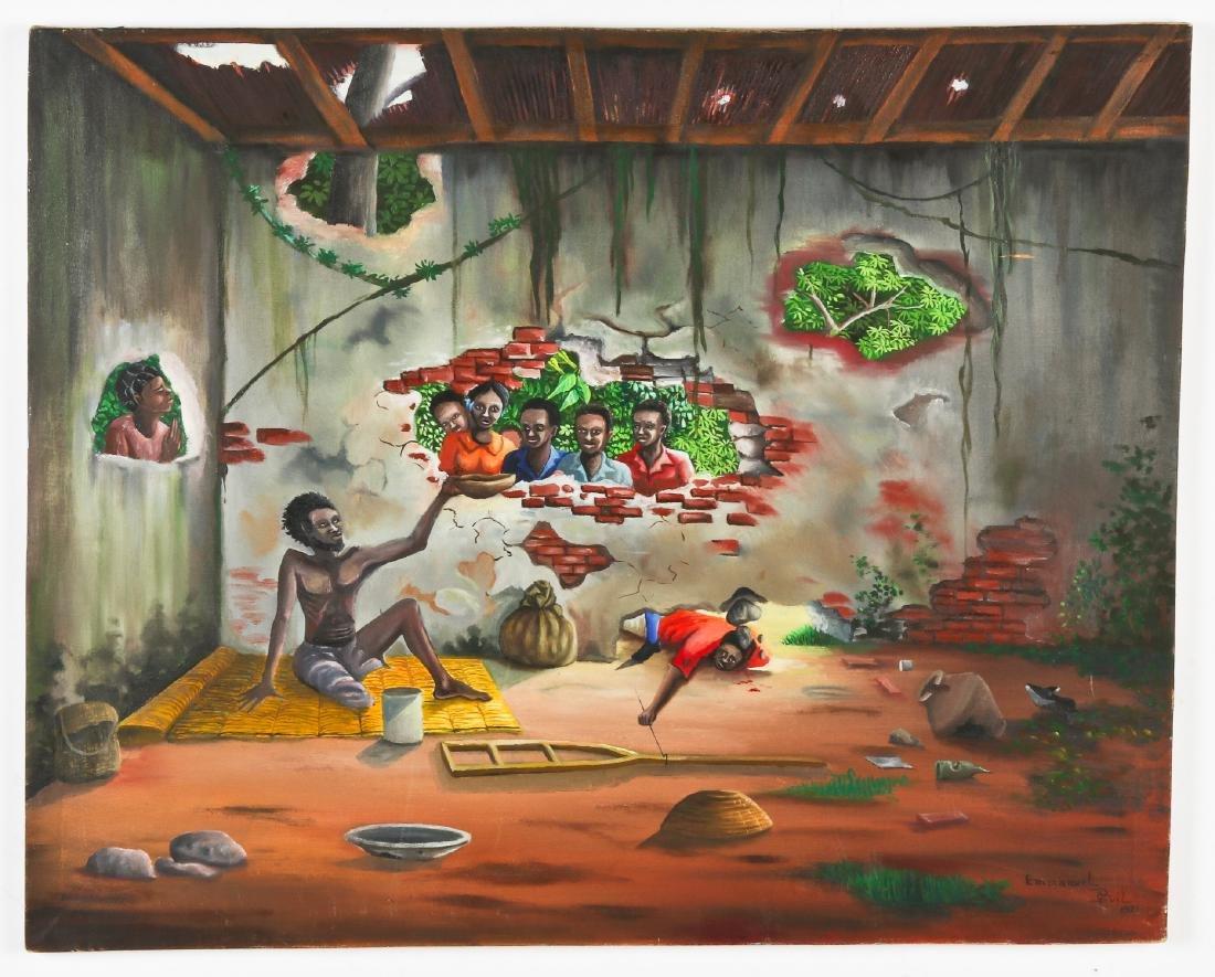 Emmanuel Previl (Haitian, 20th c.) People In Need - 2