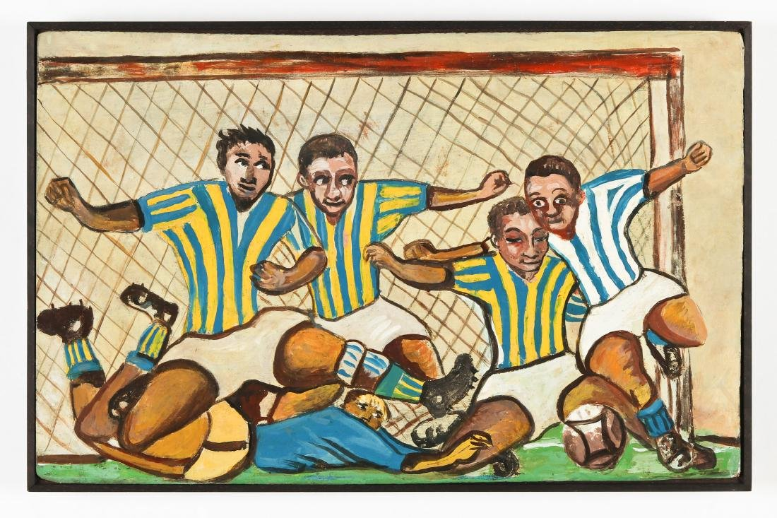 Isaac (Haitian, 20th c.) Soccer Players - 2