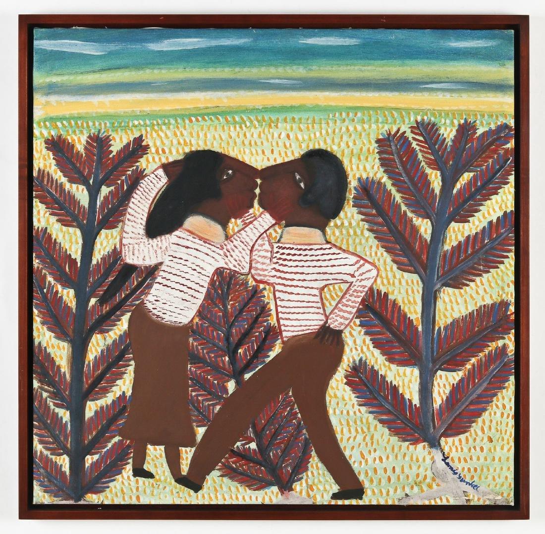 Saint Soleil School (Haitian, 20th c.) Lover's Kiss - 2