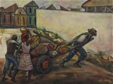 Haitian School (20th c.) To Market (Marche), 1966