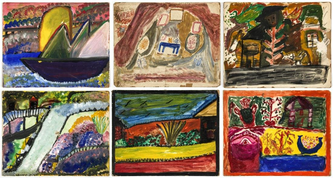 6 Works from The Brooklyn Senior Art Center (1973)
