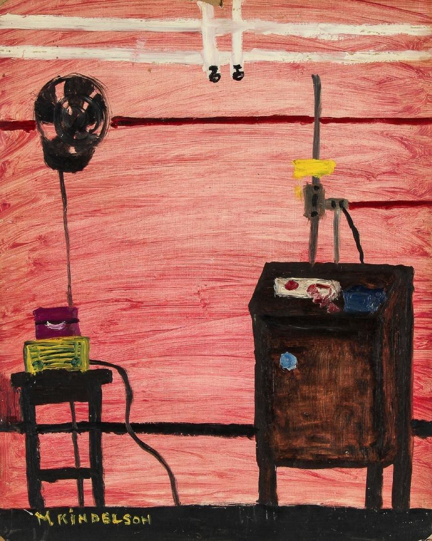 M. Kindelson (American, 20th c.) Pink Interior