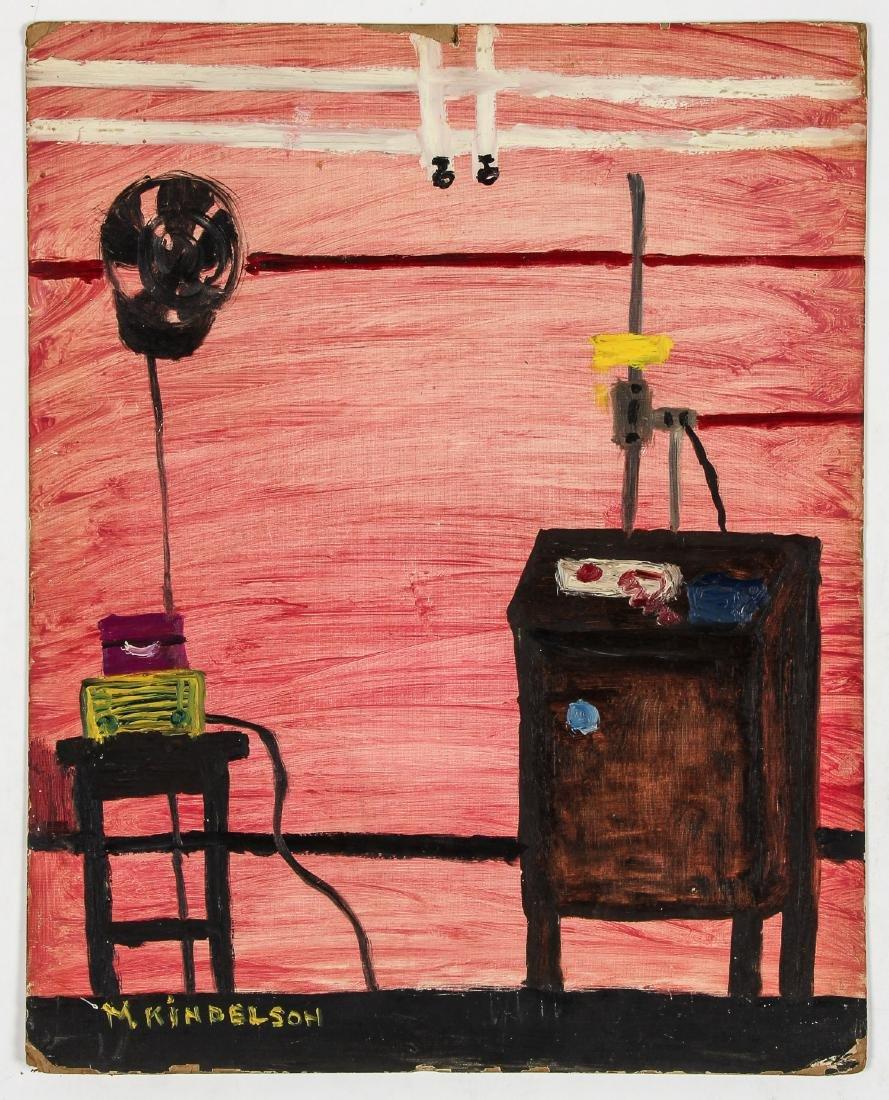 M. Kindelson (American, 20th c.) Pink Interior - 2
