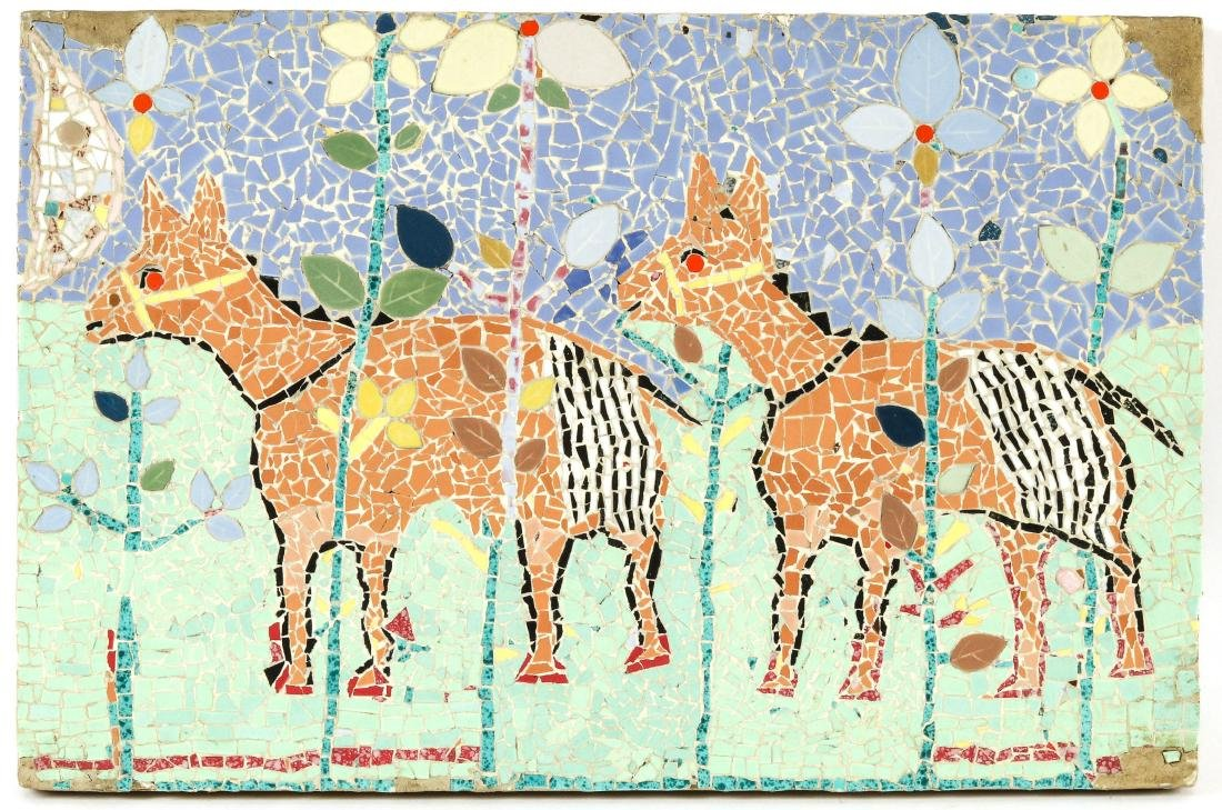Miss Joyce (American, 20th c.) Animal Theme Mosaic