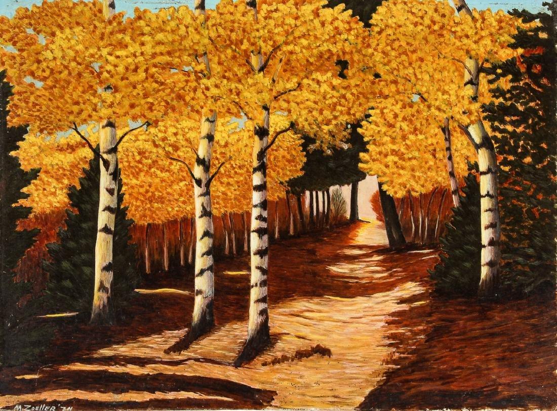 M. Zoeller (American, 20th c.) Autumn Landscape