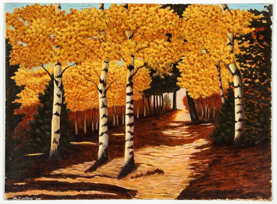 M. Zoeller (American, 20th c.) Autumn Landscape - 2