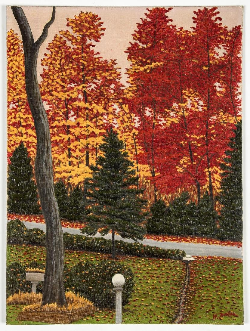 M. Zoeller (American, 20th c.) Autumn Landscape with - 2