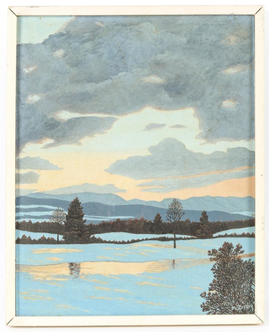 M. Zoeller (American, 20th c.) Winter Landscape