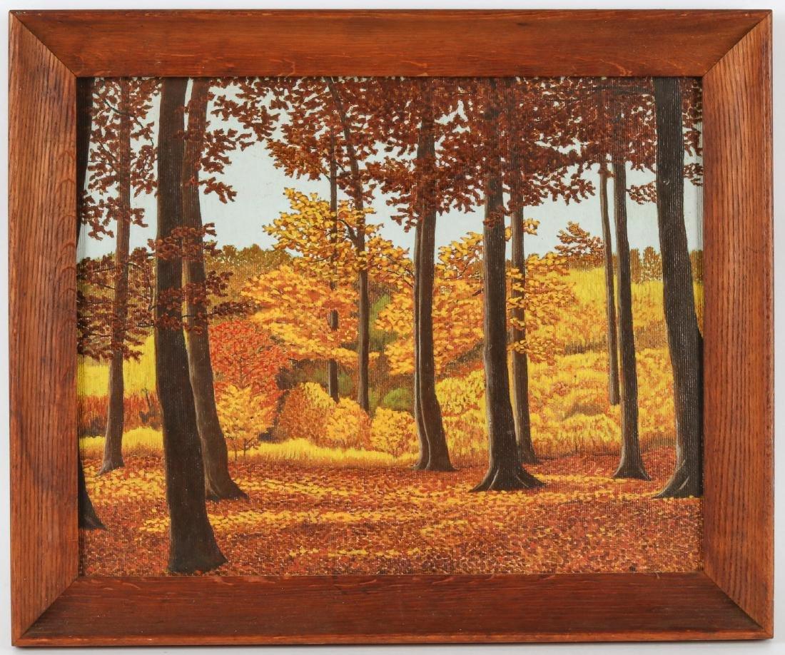"M. Zoeller (American, 20th c.) ""Autumn Scene"""