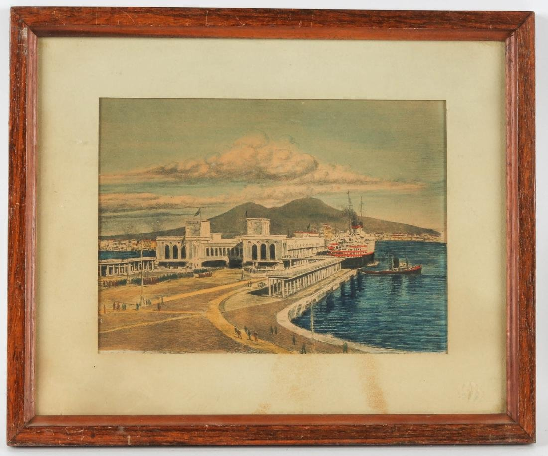 Unknown Artist (20th c.) Harbor Scene