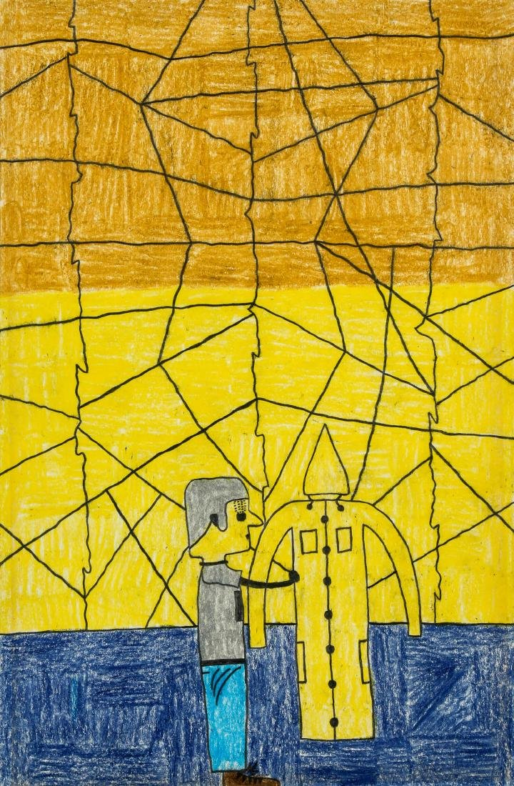"David Olson (American, 20th c.) ""Man with Jagged"