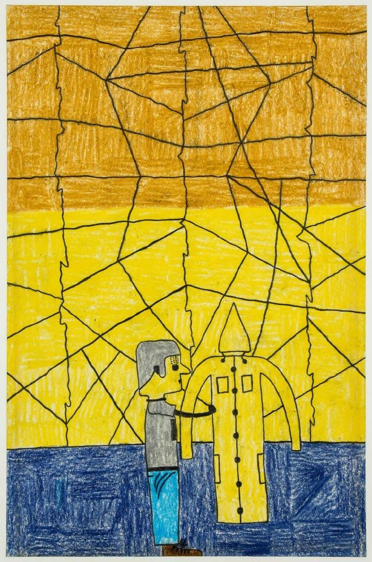 "David Olson (American, 20th c.) ""Man with Jagged - 2"
