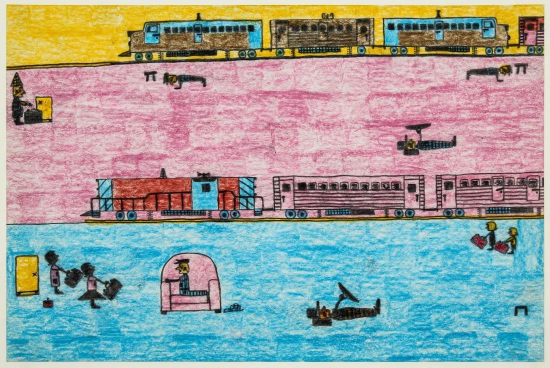 "David Olson (American, 20th c.) ""Trains"" - 2"