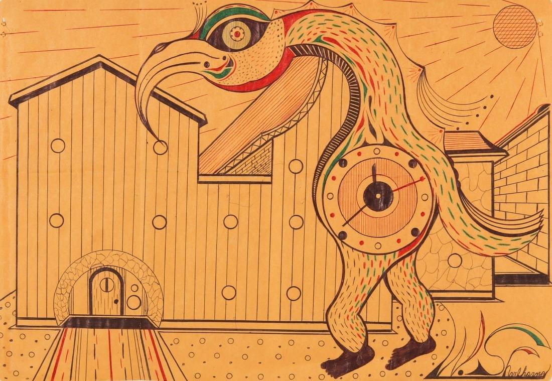 Welmon Sharlhorne (b. 1952) Pelican Man