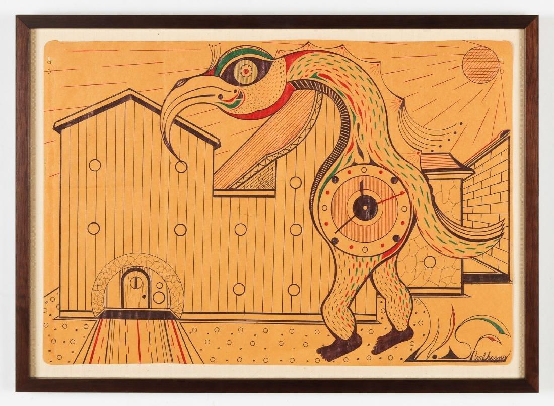 Welmon Sharlhorne (b. 1952) Pelican Man - 2