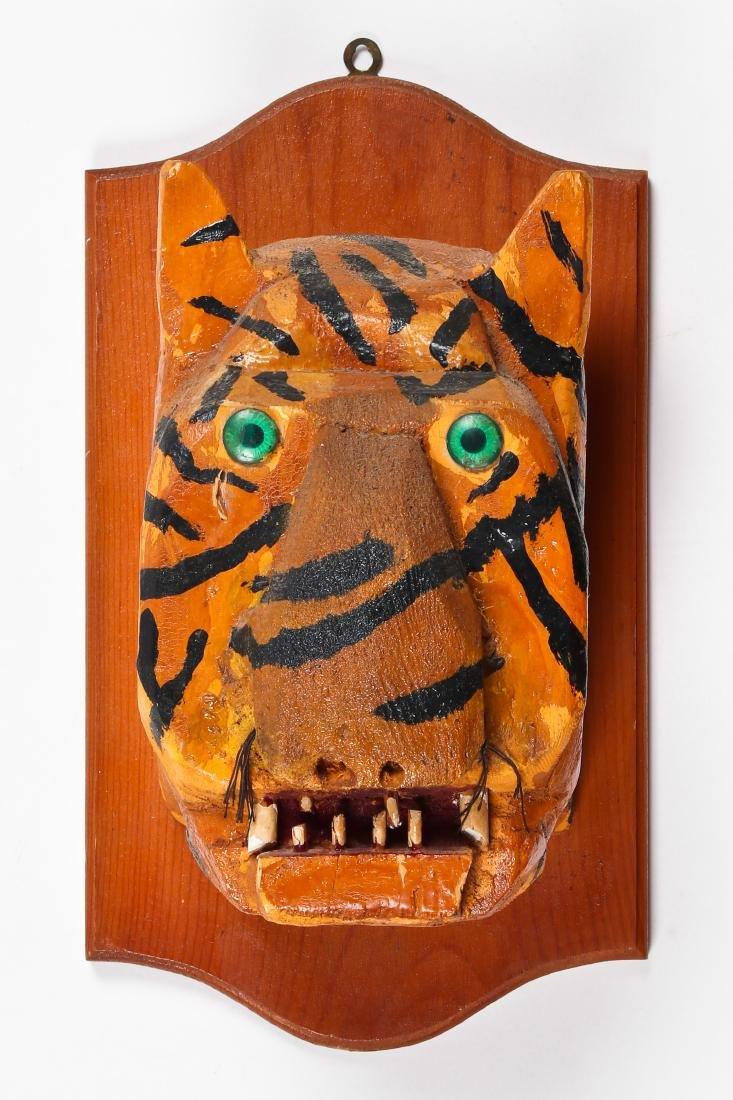 Folk Art Tiger Head Trophy