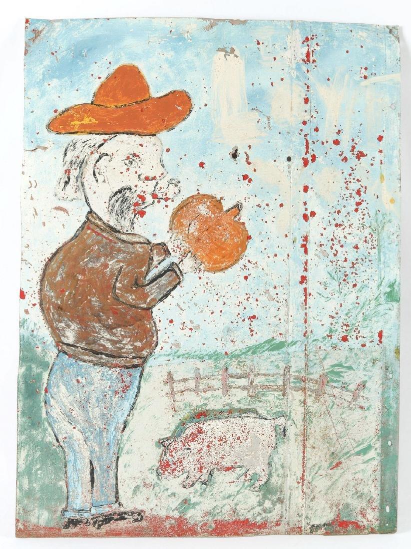 Pig Farmer with Pumpkin