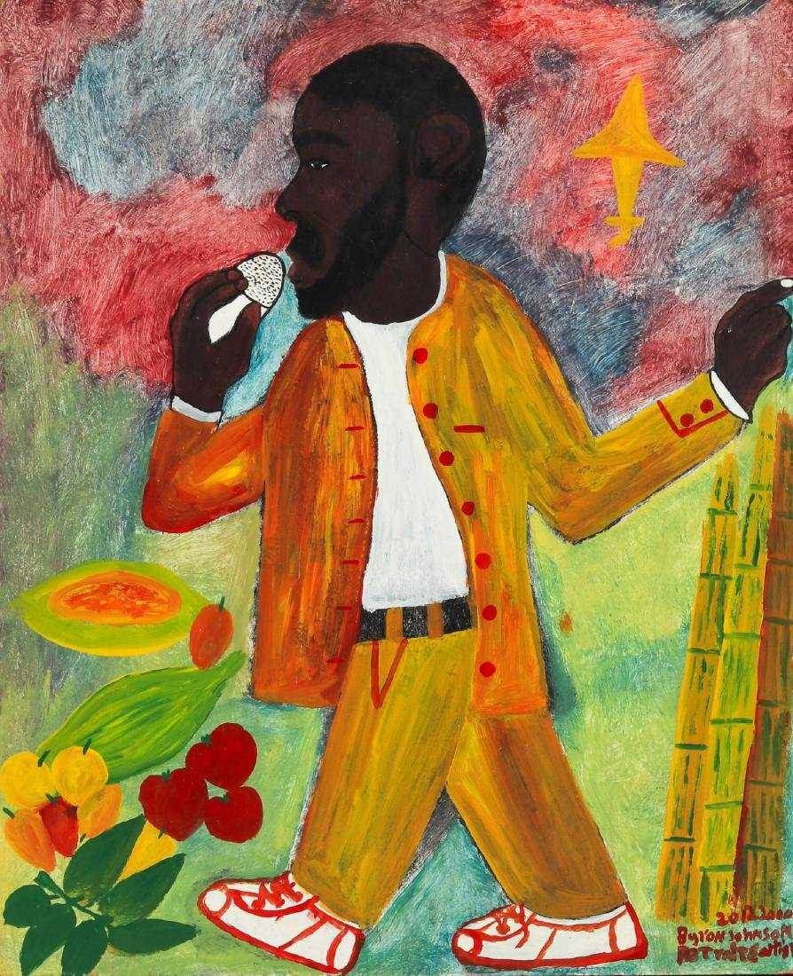 Byron Johnson (Jamaican, 20th c.) Singer, 2000